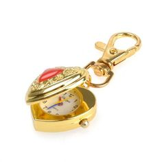 Lovely Heart Shape Keychain Watches for women.