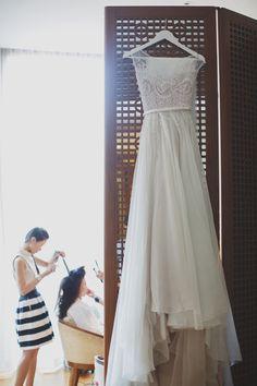 Paolo Sebastian's Swan Lake wedding dress // A Midsummer Night's Dream-Inspired Wedding with Two Paolo Sebastian Dresses