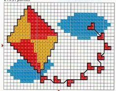 **Blog Amor Perfeito** Gráficos de ponto cruz: Pipas