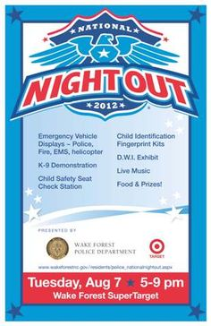 National Night Out Flyer Templates | Flyer template