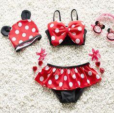 Baby Girls Kids Minnie Mouse Bikini Set Swimwear Child Bathing Swim Suit Costume