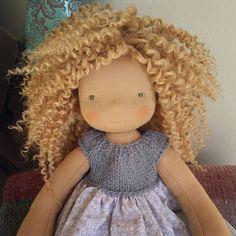 Miss Amelia Bernice. #dollmaking #fiberartdoll #handmadedoll #clothdoll #fabricdoll
