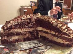 Red velvet Black Forest.. From scratch...