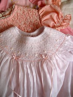I love to smock children's clothes - I need to get off Pinterest and  do a little more smocking for darlings I know...
