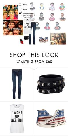 """MAGCON <3"" by aliciastylinson ❤ liked on Polyvore featuring Disney, rag & bone, Valentino, Private Party and Converse"