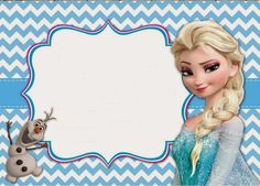 Frozen: Free Invitations to Print.