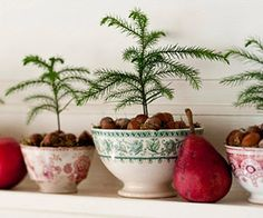 love the simplicity ~ I could do this with my grandmother's red bowls