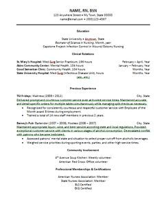 new grad nurse resume