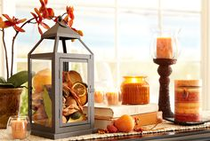 Lanterns make great displays for potpourri as well as candles
