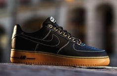 """Nike Air Force 1 Low """"Boot"""" Black & Gum"""
