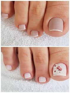 Em Nails, Shellac Nails, Hair And Nails, Pretty Toe Nails, Cute Toe Nails, Nail Polish Style, Manicure E Pedicure, Toe Nail Designs, Nagel Gel