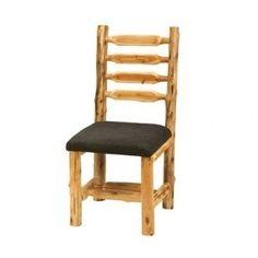 Fireside Lodge Furniture 16155-SL Cedar Leather Side Chair