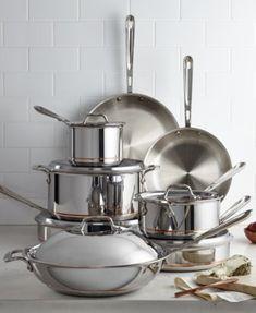 All-Clad Copper-Core Cookware Set Kitchen - Cookware & Cookware Sets - Macy's Kitchen Tools, Kitchen Gadgets, Kitchen Products, Kitchen Ideas, Kitchen Design, Kitchen Appliances, Kitchen Cookware Sets, Home Health, Cast Iron