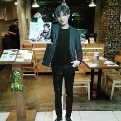 Lee Min Ho : Standee at Kyochon Indonesia (Kota Kasablanka (KK)]