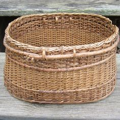 Antique Creel wicker Fishing Basket by callmeanytimevintage