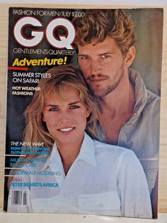 GQ Magazine July 1981 Matthew Norklun Safari Inside Male Model Vintage #Fashion #vintagemagazine #GQ #matthewnorklun #malemodeling