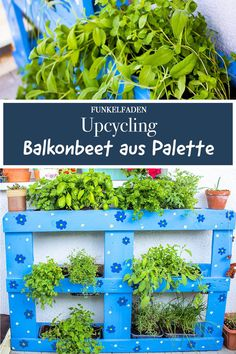 Upcycling – Instructions Building a balcony bed from a pallet - Garden Decoration Trends