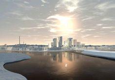 Kalasataman keskus talvisessa havainnekuvassa. New York Skyline, Architecture, Travel, Art, Arquitetura, Art Background, Viajes, Kunst, Destinations