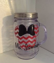 Personalized  DISNEY Mug, Chevron  MINNIE MOUSE, Birthday Cup, Gifts, Personalized Cup, Team Gifts, Custom, Mug, Glass, Personalized, Gifts by SimplyGiles on Etsy https://www.etsy.com/listing/237256101/personalized-disney-mug-chevron-minnie