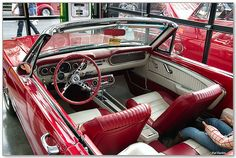 1965 Mustang 289 convertible - red & white - interior by Pat Durkin - Orange County, CA, via Flickr