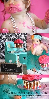 first birthday photo shoot ideas | 1st Birthday Cake Smash Photo Shoot