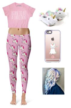 """UNICORNS!!"" by gracie-pettit ❤ liked on Polyvore featuring Casetify"