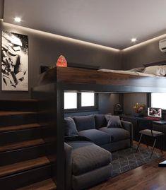 Small Room Design Bedroom, Bedroom Setup, Room Ideas Bedroom, Bedroom Loft, Home Room Design, Bedroom Themes, Home Interior Design, House Design, Bed Design