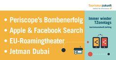 Immer wieder #TZonntags, 17.5.2015: Periscope's Bombenerfolg, Apple & Facebook Search, Jetman Dubai, Roaming in der EU