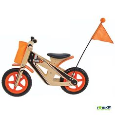 Wooden bike without pedals Flott