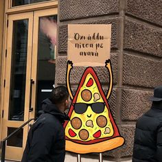 Pizza with sign 🍕 Pizza Sign, Funny Moments, In This Moment, Signs, Shop Signs, Sign