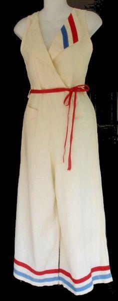 1930s beach pyjamas | The Vintage Traveler  http://thevintagetraveler.wordpress.com/2012/12/11/american-sportswear-part-ii-pants/