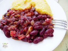 Mâncărică de fasole roşie | Bucate Aromate Polenta, Vegetarian Recipes, Beef, Treats, Food, Fine Dining, Meat, Sweet Like Candy, Goodies