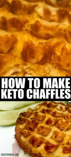 How to Make Keto Chaffles. With only 2 ingredients this is the BEST Keto Chaffle Recipe! How to Make Keto Chaffles. With only 2 ingredients this is the BEST Keto Chaffle Recipe! No Bread Diet, Best Keto Bread, Best Keto Diet, Low Carb Desserts, Easy Desserts, Low Carb Recipes, Dessert Recipes, Dinner Recipes, Easy Keto Recipes