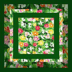 Flower Pattern Art Quilt II' - http://irina-sztukowski.artistwebsites.com/featured/flower-pattern-art-quilt-ii-irina-sztukowski.html #countrystyle #country #vintage #vintagecountry #cuteandcozy #painting #homedecor #art