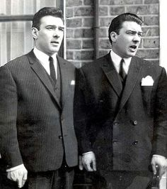 The Krays (twins, Ronnie and Reggie) 2 British killers. a movie called The Krays, was released, in the with Jeremy Irons playing both parts. Old London, East London, Mafia, The Krays, Real Gangster, Twin Photos, Al Capone, Tower Of London, British History