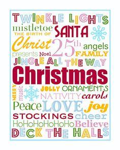 Christmas Subway Art, Christmas Words, Christmas Quotes, Christmas Signs, Christmas Art, All Things Christmas, Winter Christmas, Christmas Themes, Christmas Posters