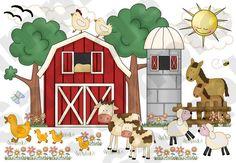 Barnyard Farm Animals Scene Wall Art Mural for baby boy or girl nursery. Wall Mural measures Tall and Wide Wall Mural Decals, Animal Wall Decals, Nursery Wall Decals, Baby Nursery Decor, Nursery Boy, Babies Nursery, Themed Nursery, Childrens Room Decor, Boys Room Decor