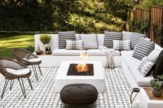 View the portfolio of interior designer Jute in San Francisco, California Backyard Seating, Backyard Patio Designs, Outdoor Seating Areas, Outdoor Rooms, Outdoor Fire Table, Fire Pit And Seating Area, Backyard With Fire Pit, Garden Seating Areas, Fire Pit On Wood Deck