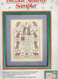 Cross Stitch - Blessed Nativity Sampler - Kit by Karen Avery (1988) by Dimensions, http://www.amazon.com/dp/B00AVS4XTU/ref=cm_sw_r_pi_dp_mcNqrb174MGFK