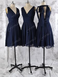 Bridesmaid dresses Custom NAVY chiffon party dress by Formals, $99.00