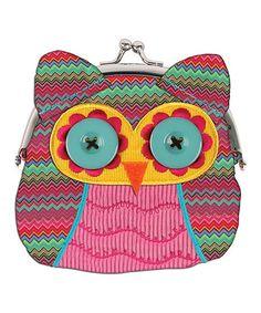 Pink Owl Coin Purse | zulily
