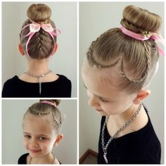 Valentine Heart Hair! I saw this beautiful style at @peinadoscolorin. I just had to recreate it. LOVE! Perfection