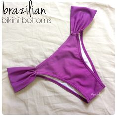 Brazilian bikini bottoms PRELOVED worn a few times. hand washed and hung to dry. these lavender/purple bottoms  are perfectly small in the back and match best with white or black bikini tops.  size- large (can also fit a medium) waist- 14.5 inches laying flat length- 8.0 top of waistband to bottom crotch  BUNDLE FOR BETTER PRICE- please don't hesitate to ask questions. thanks for looking ☺️ Swim Bikinis