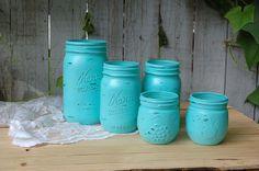 Hey, I found this really awesome Etsy listing at http://www.etsy.com/listing/157500420/shabby-chic-mason-jars-tiffany-blue-aqua