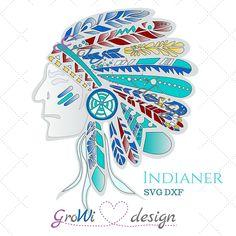 #Plotterdatei #Indianer by @growidesign  www.etsy.com/de/listing/454956964/plotterdatei-indianer-by-growidesign