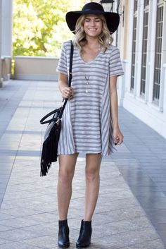 Striped #dress