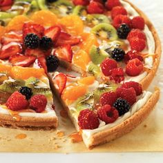 From morning to cocktail hour, this sweet faux pizza with a cookie dough crust and cream cheese center is a knock-out. Recipe: Philadelphia Fruit Pizza