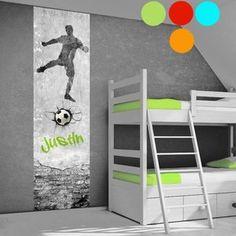 Voetbal muurstickers voetbalkamer Soccer Bedroom, Kidsroom, New Room, House Rooms, Little Boys, Kids Rugs, Cool Stuff, Inspiration, Furniture