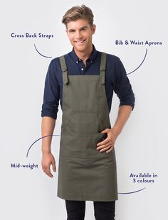 The Tokyo Bib Apron in Khaki is a standout uniform piece that presents a cool military edge. Inspired by the clean lines and premium fabrics of Japanese street-wear, it's a fashion forward look that will add a stylish and original finish to your staff look. This is a durable apron made from 100% cotton canvas that embraces a relaxed crease, whilst the colour tone suits an array of venues from inner-city cafes to chic restaurants, and boutique retail outlets. Also available in Black and as...