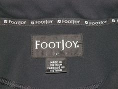 Footjoy Solid Black 3 Button Short Sleeve Golf Polo Shirt Men's  #3 #FootJoy #PoloRugby